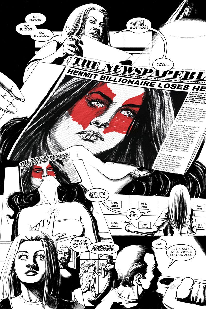 Issue 4, Page 9 - Hermit Billionaire's Lost Head, Found.