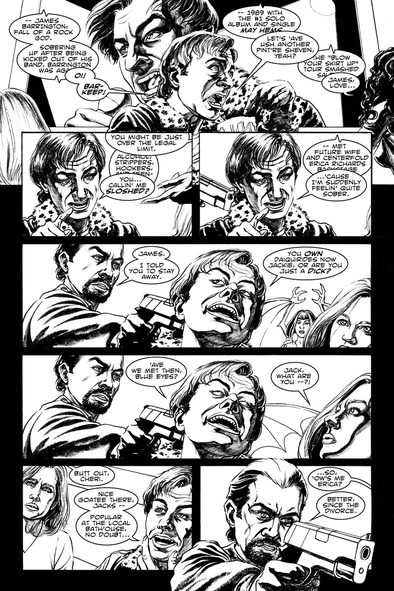 Issue 2, Page 4 - James Barrington: Rock God.