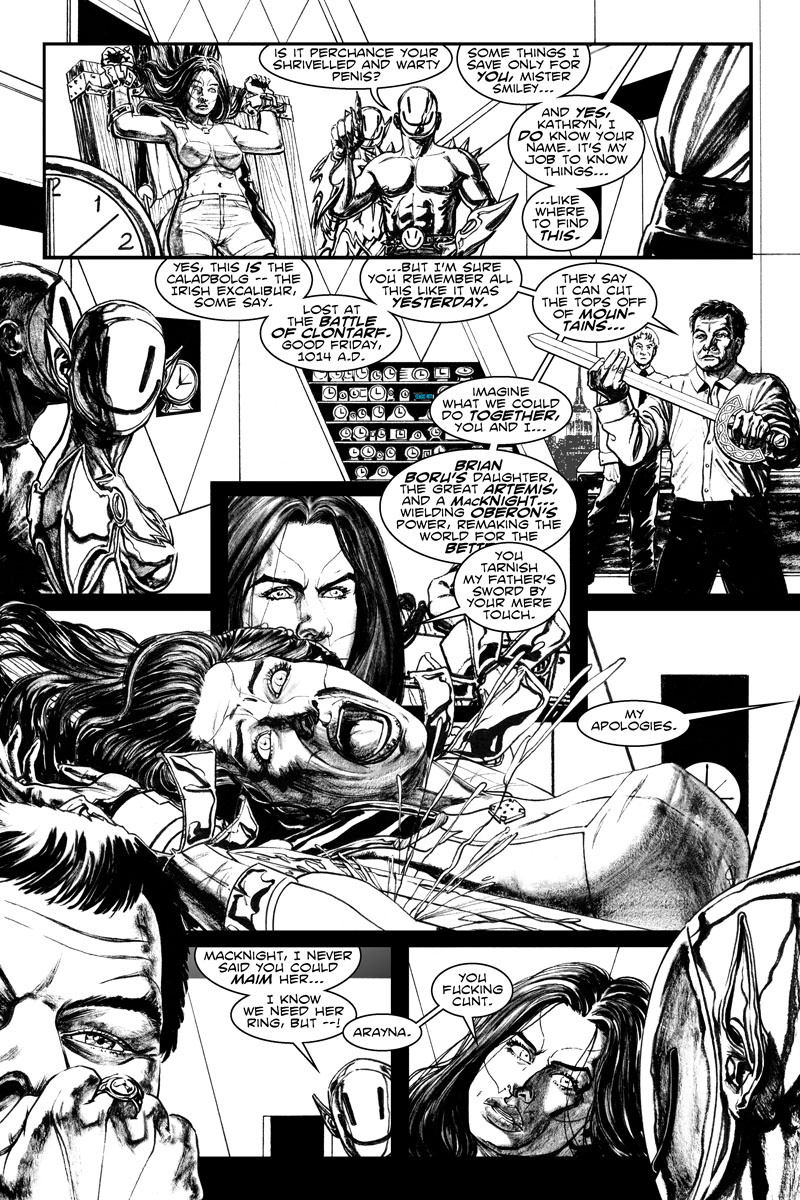 Issue 5, Page 8 - Brian Boru's Daughter and the Caladbolg.