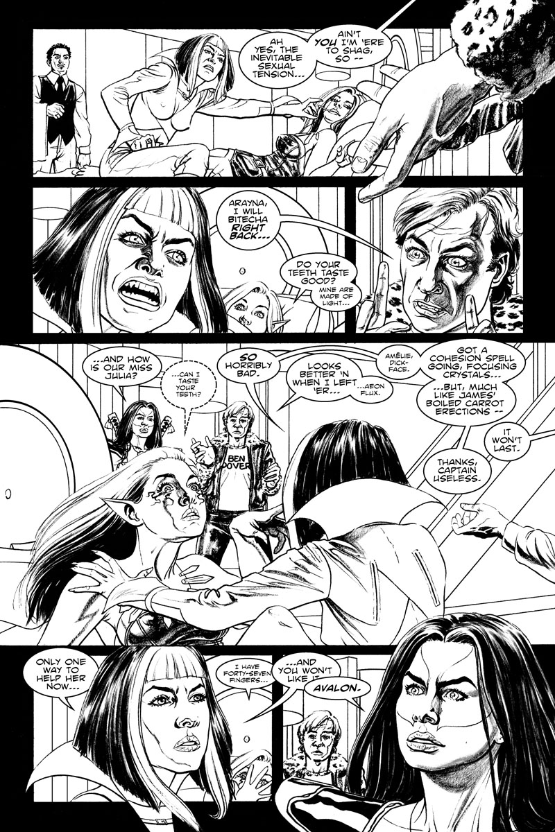 Issue 3, Page 4 - The Inevitable Sexual Tension.